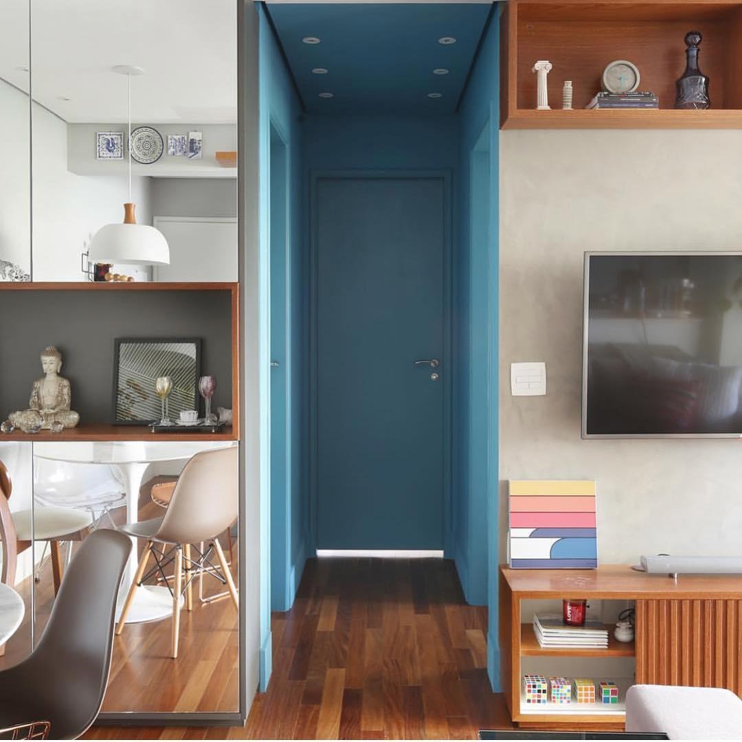 cores para corredor pequeno