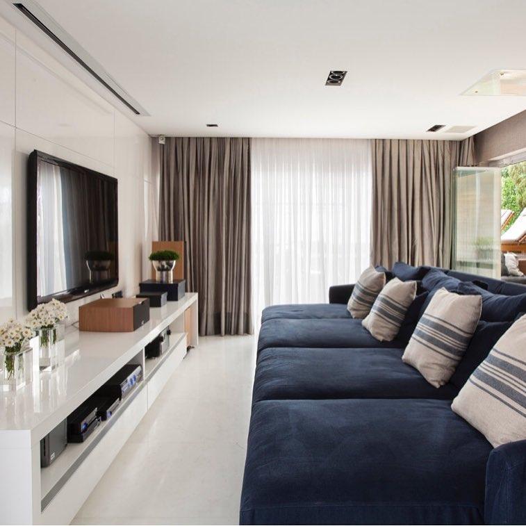 sofa azul marinho retratil