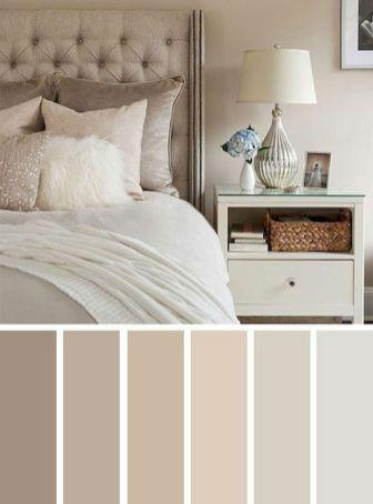 paleta de cores neutra para quarto