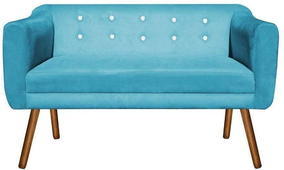 sofa retro azul turquesa