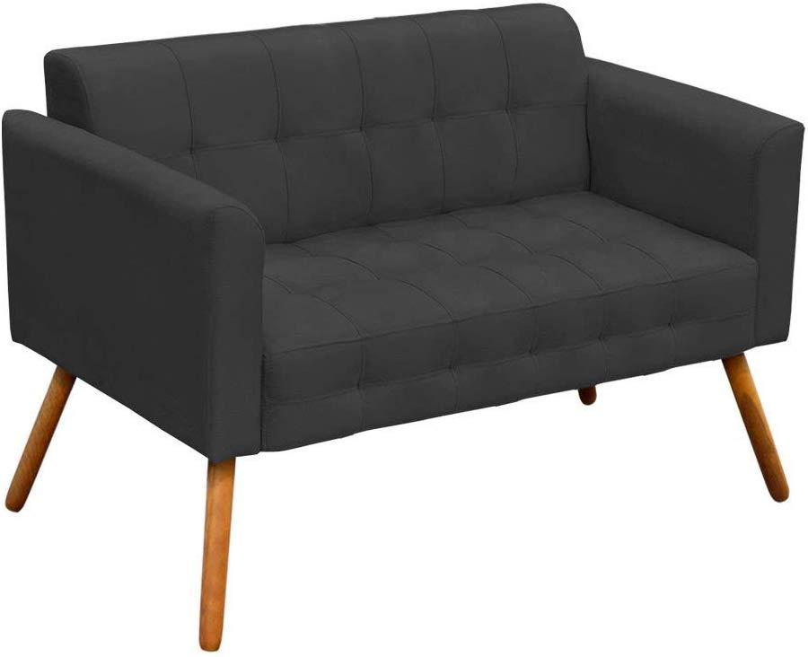 sofa cinza chumbo pequeno