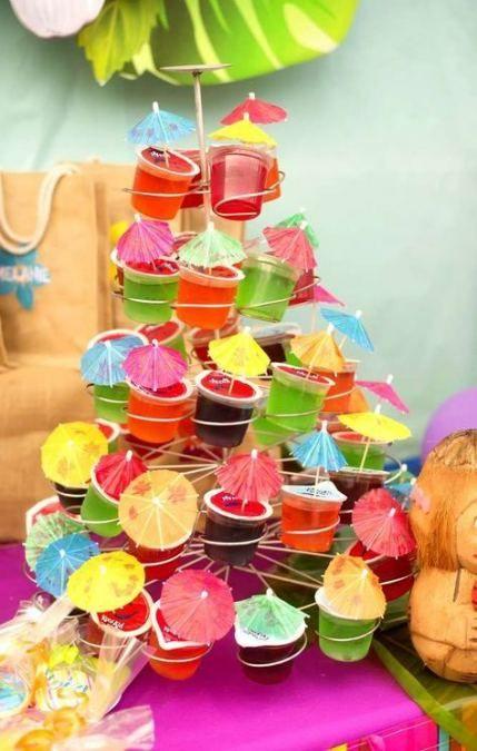 o que servir na festa da piscina gelatina