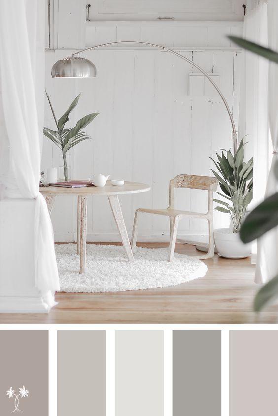 paleta de cores para quarto clean