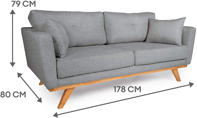 sofa cinza de linho moderno