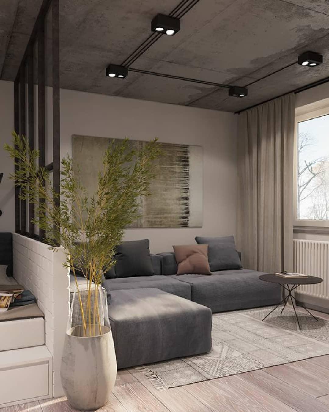 sofa cinza moderno e despojado