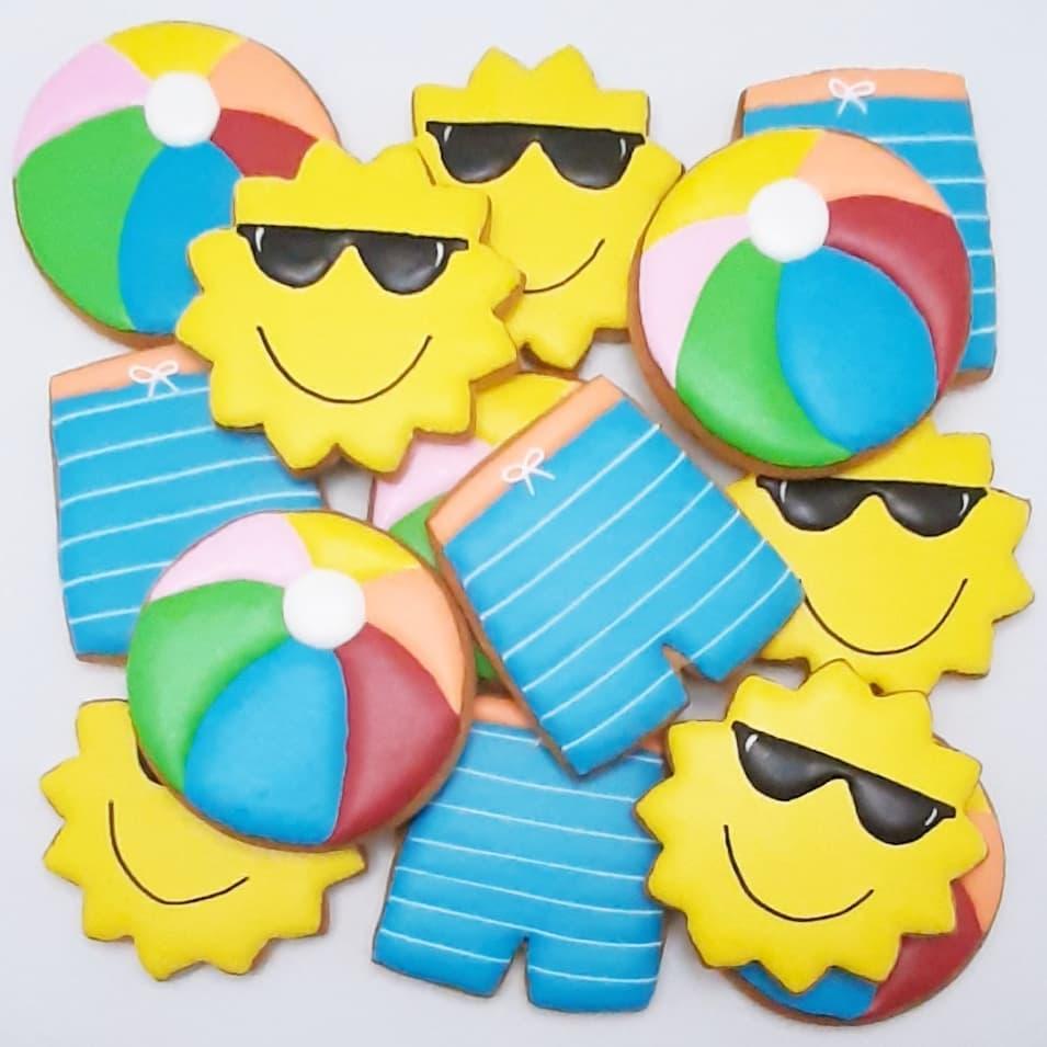 biscoitos decorados festa na piscina