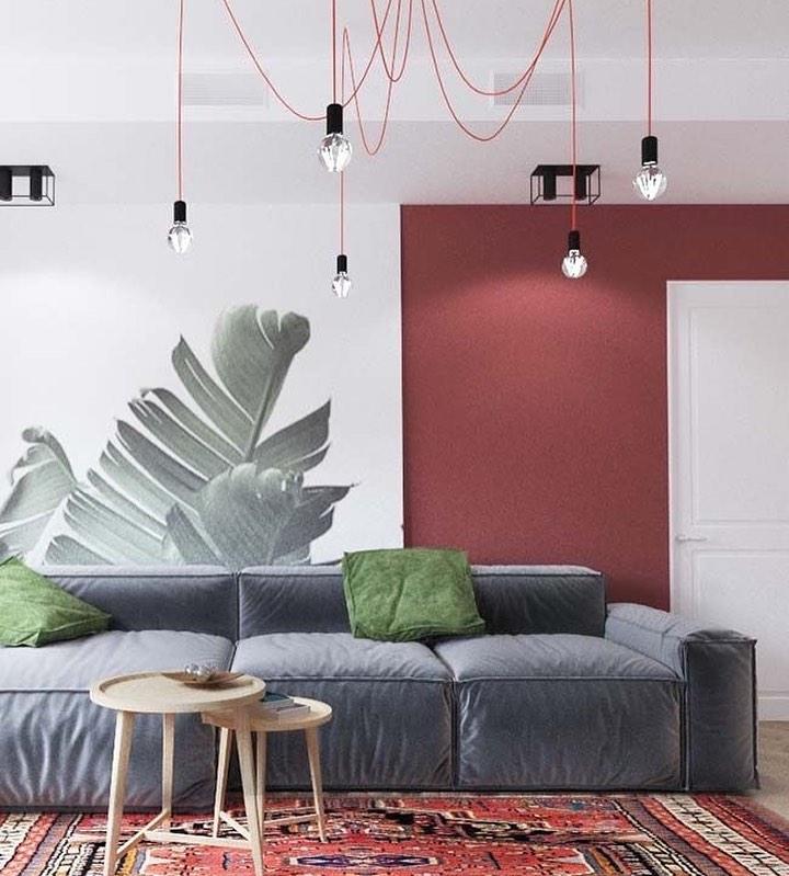 sofa cinza despojado e moderno