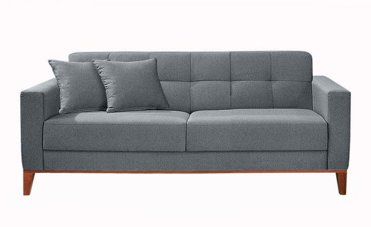 sofa cinza 2 lugares moderno