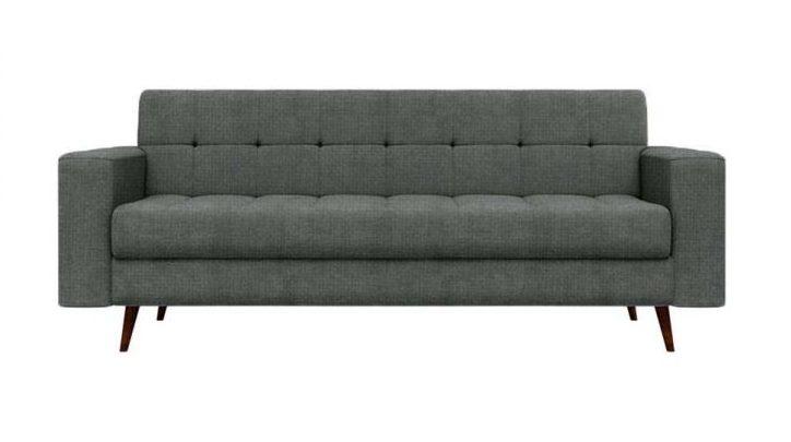 sofa cinza 3 lugares linho