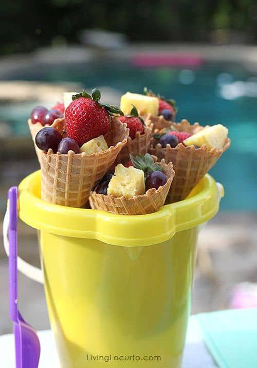 o que servir na festa da piscina frutas