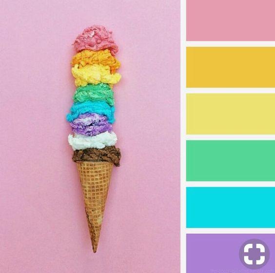 paleta de cores festa na piscina