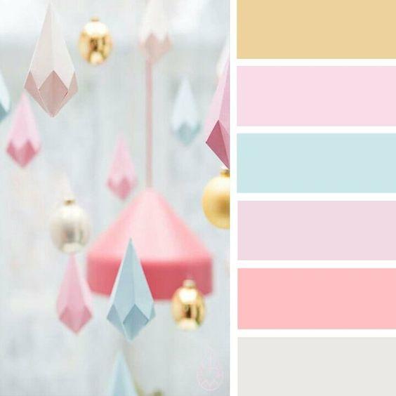 paleta de cores festa unicornio cores pasteis
