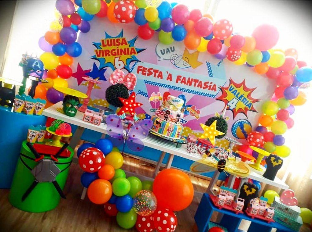decoração festa a fantasia infantil