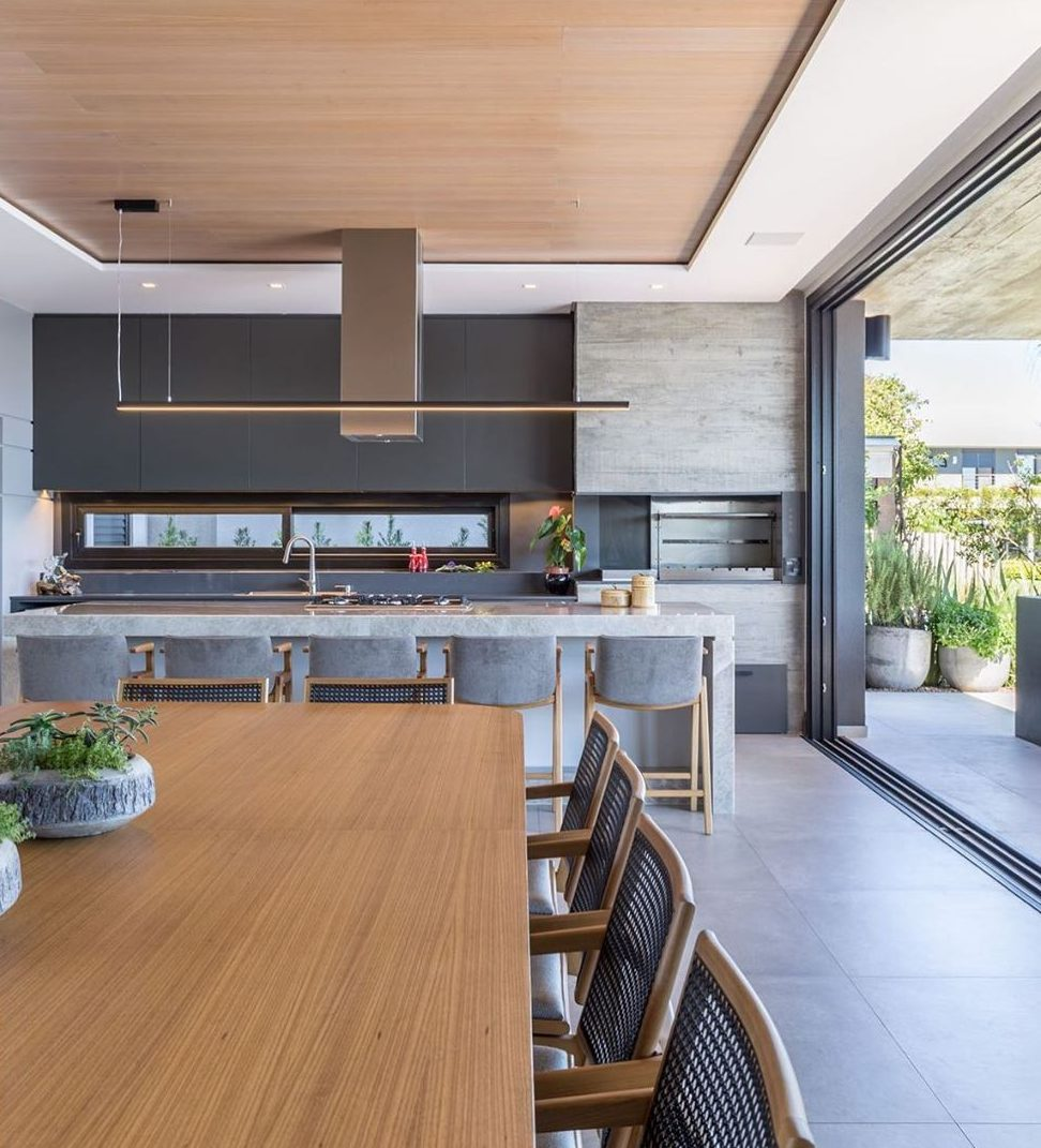 varanda com churrasqueira área externa gourmet