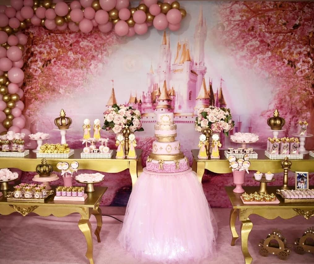 decoração festa princesa luxo