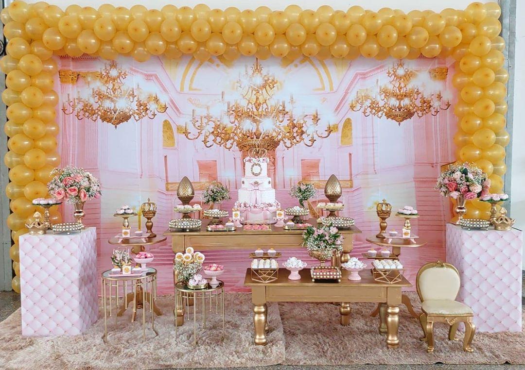 decoração festa princesa realeza luxo