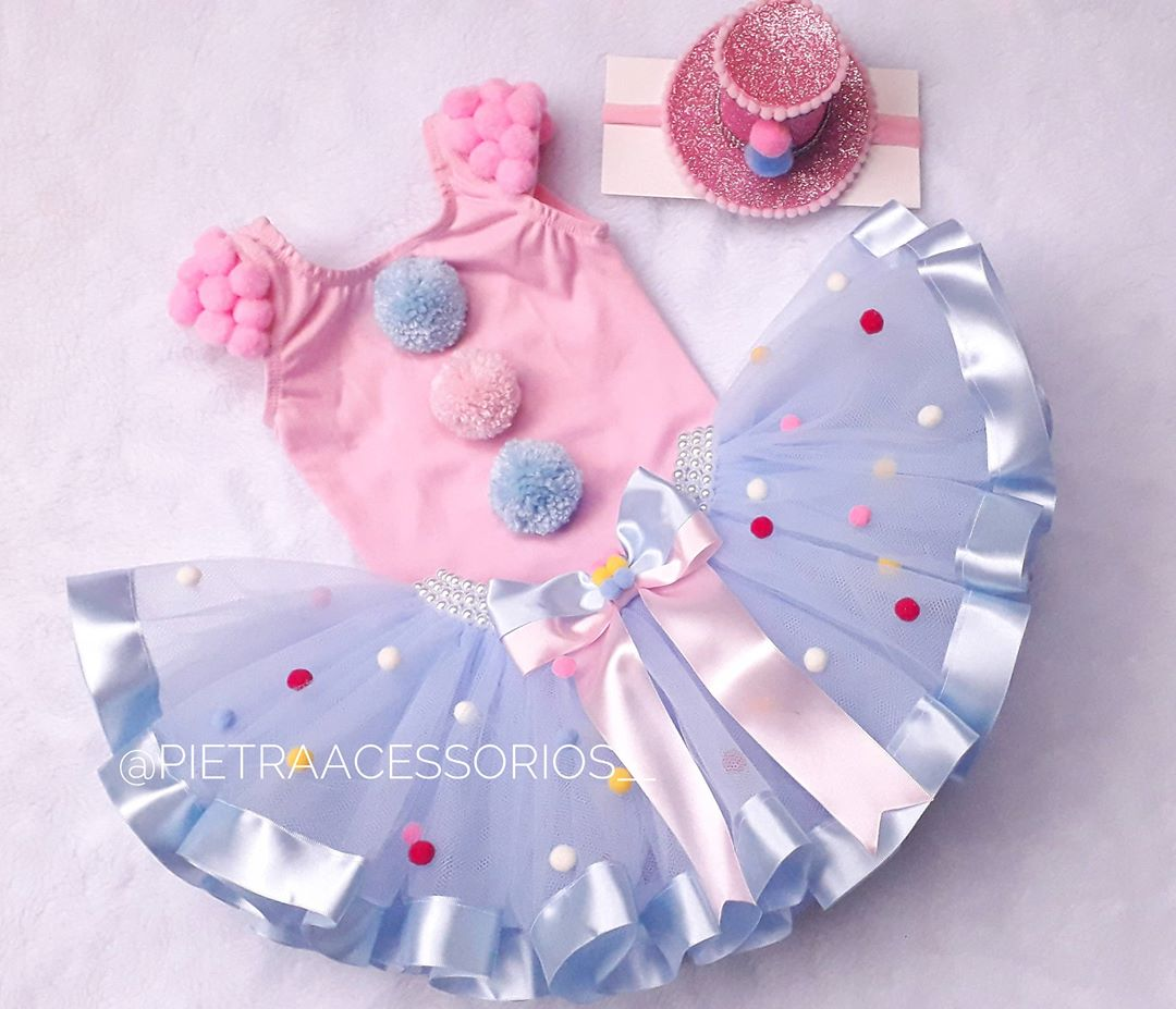 roupa para festa circo rosa