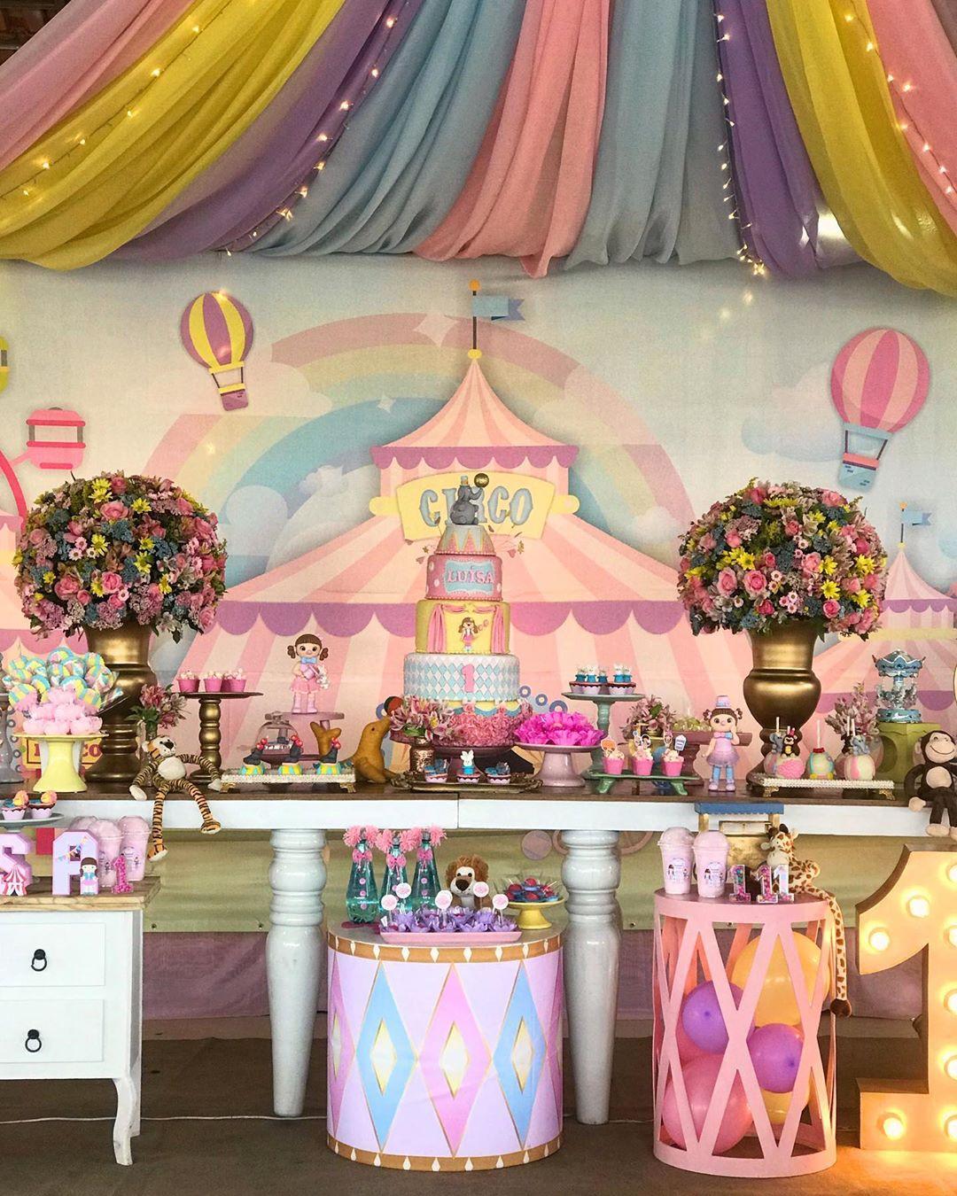 decoração festa circo rosa