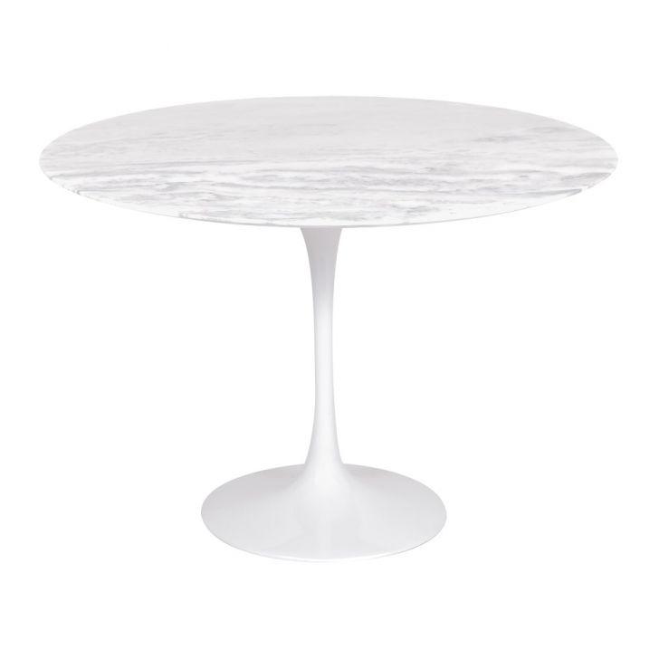 mesa de jantar redonda design em marmore