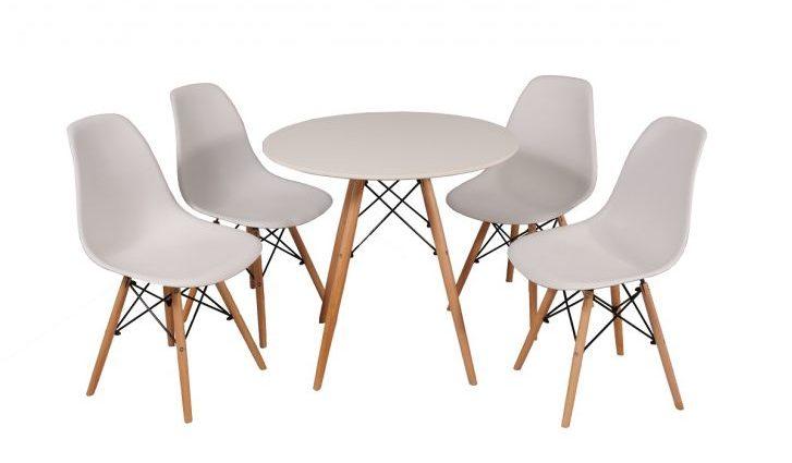 Conjunto-de-Mesa-de-Jantar-redonda-com-4-Cadeiras branco