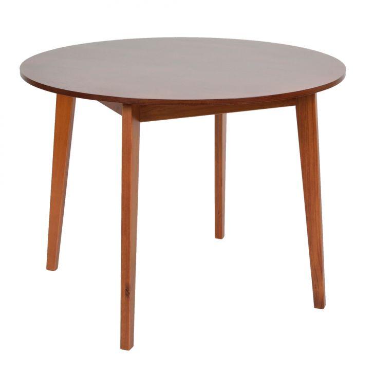 mesa de jantar redonda em madeira