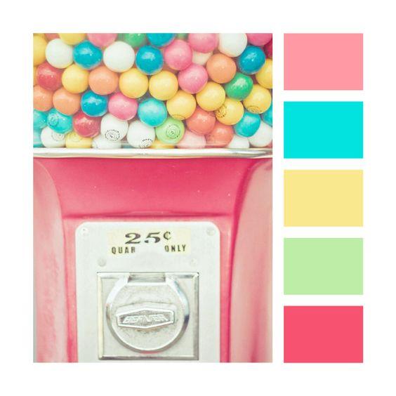 paleta em cores pasteis para festa circo rosa