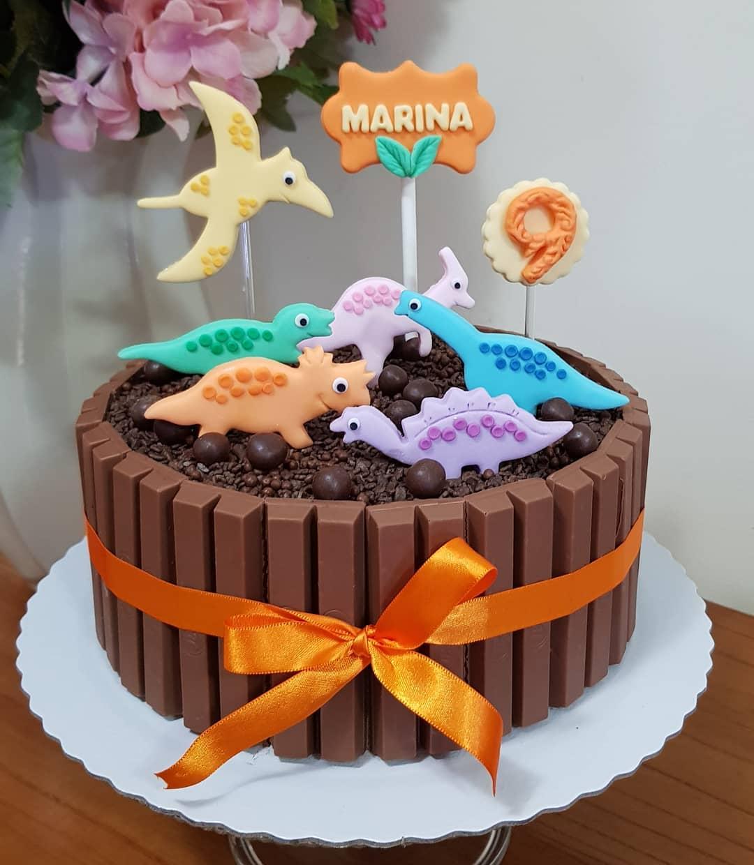 bolo festa dinossauro
