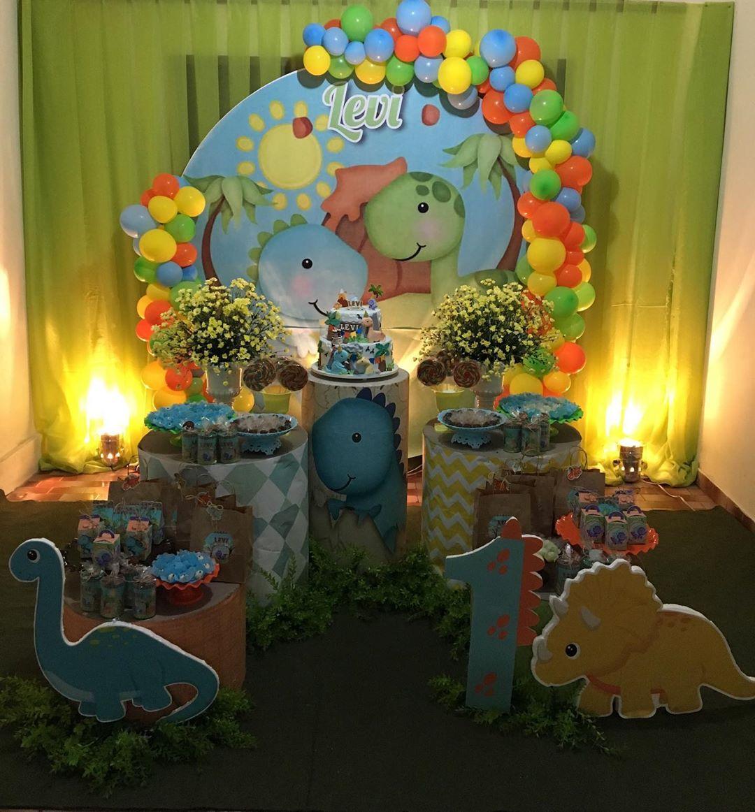 decoração festa dinossauro baby