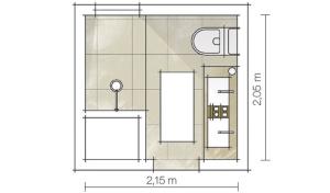 planta baixa de banheiro quadrado pequeno