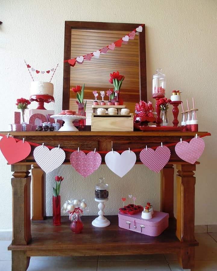 decoração dia das mães corações de papel