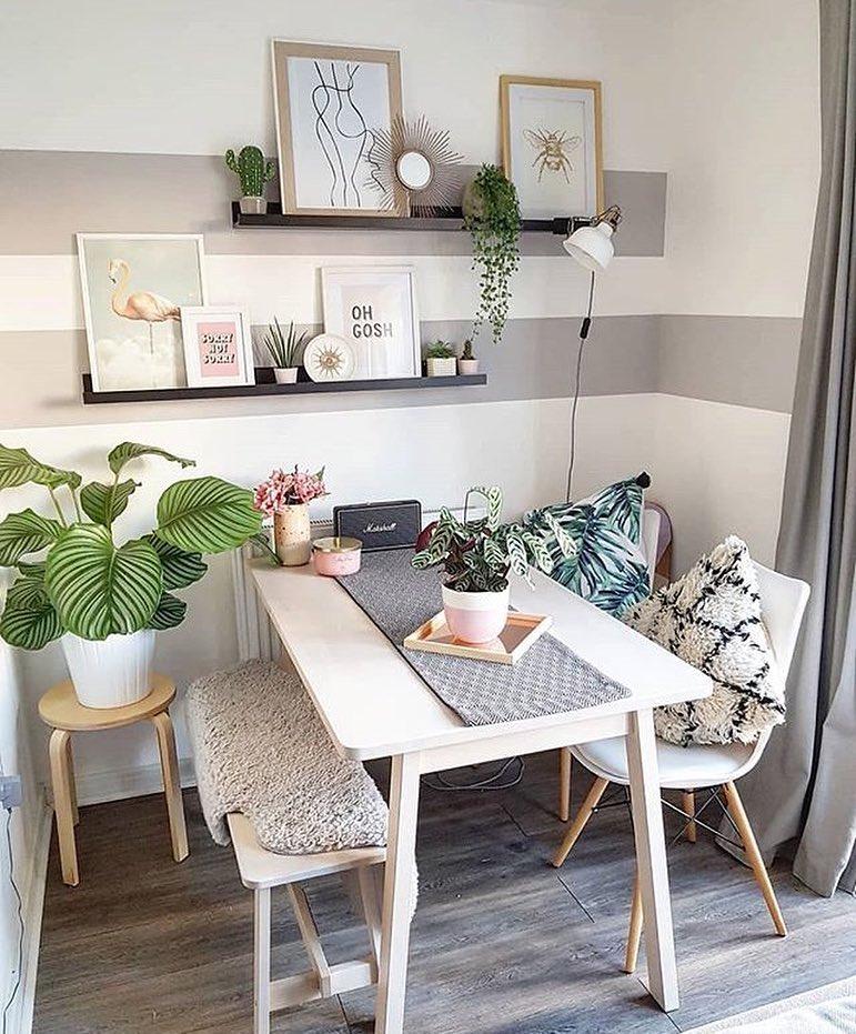 mesa de jantar pequena retangular branca