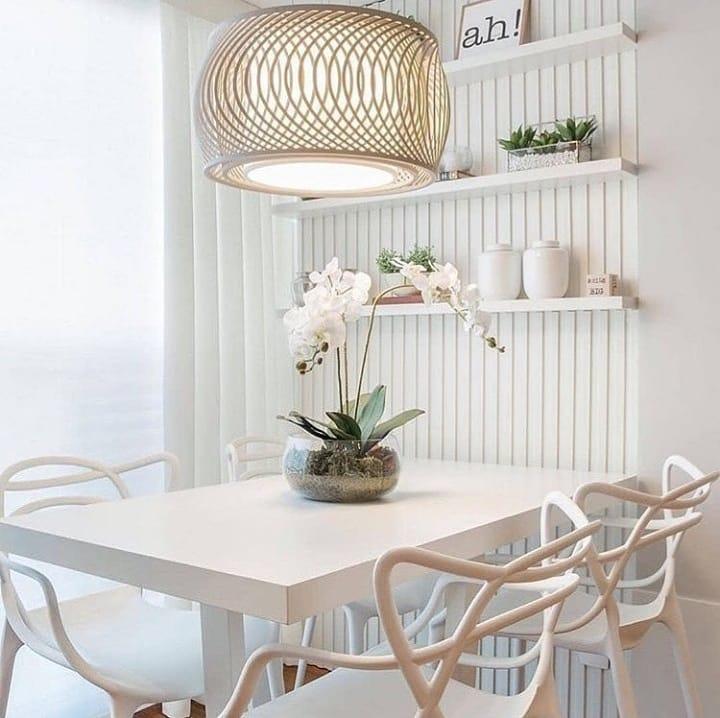 mesa de jantar pequena retangular