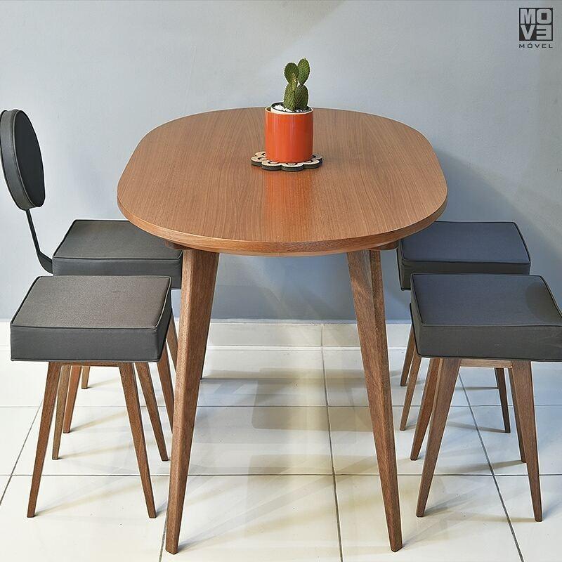 mesa de jantar pequena oval