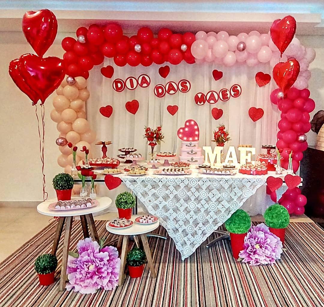 decoração dia das mães balões