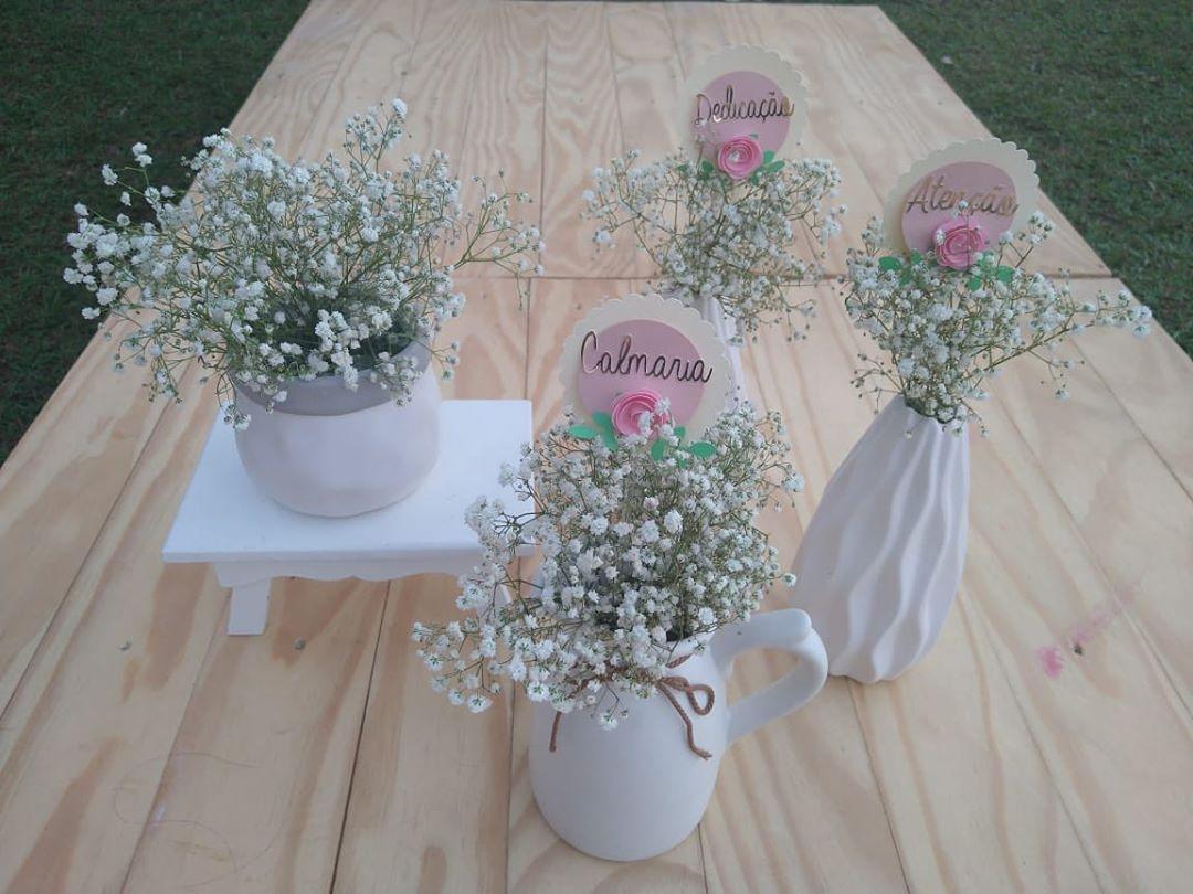 decoração com flores dia das mães