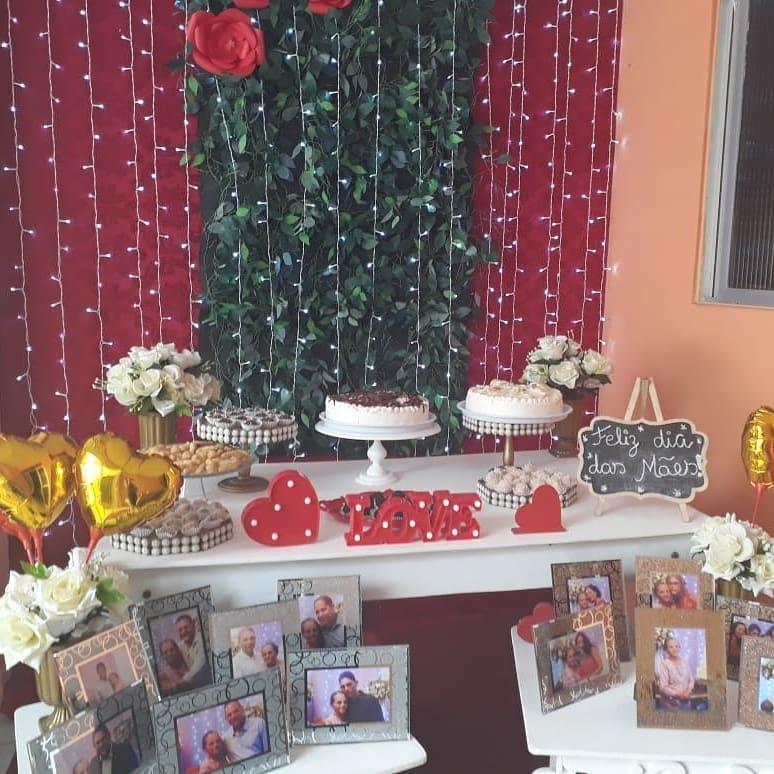 decoração dia das mães com fotos