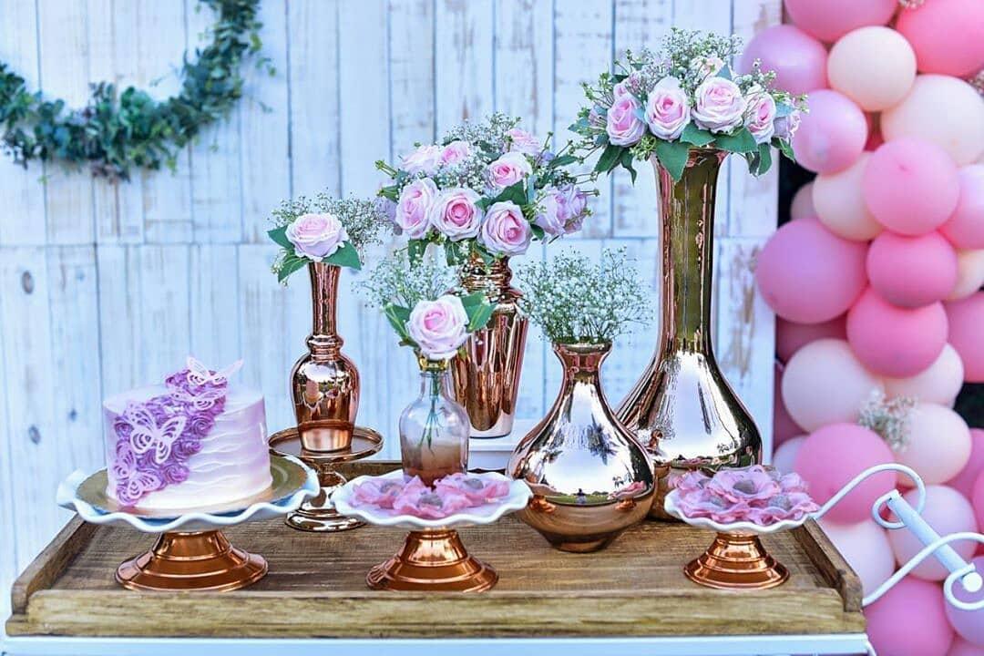 decoração dia das mães flores rosas