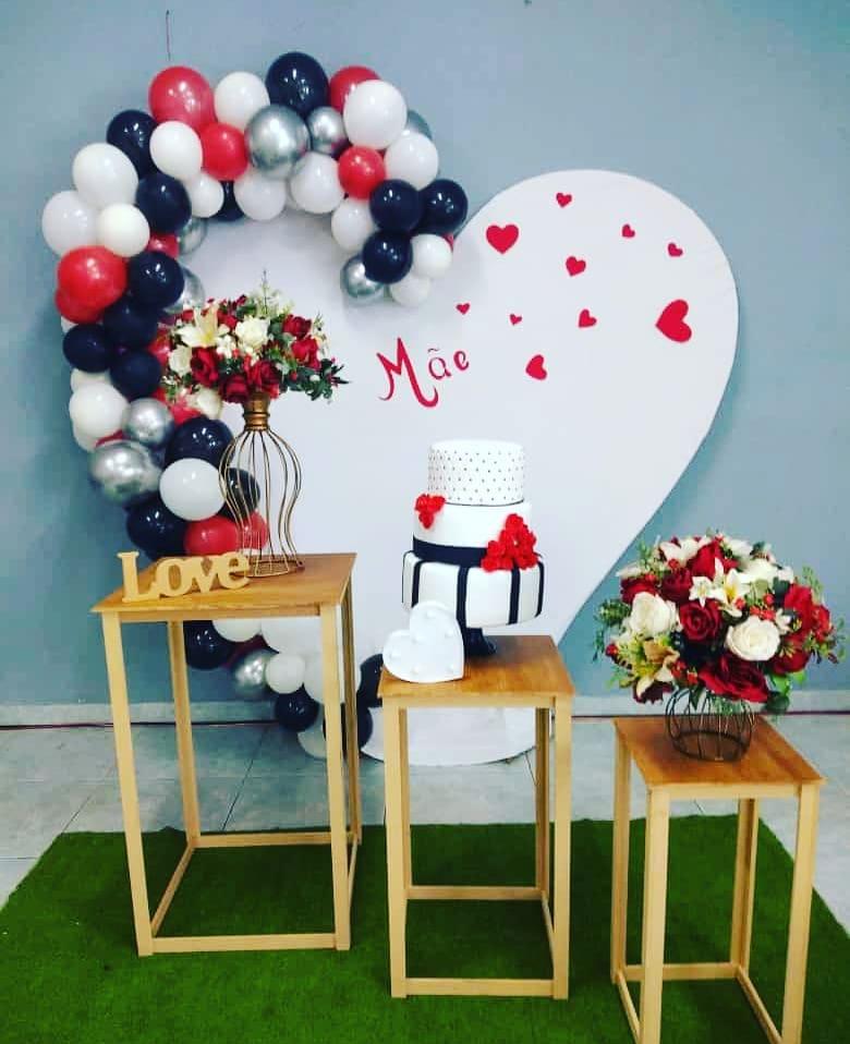 decoração dia das maes balões simples
