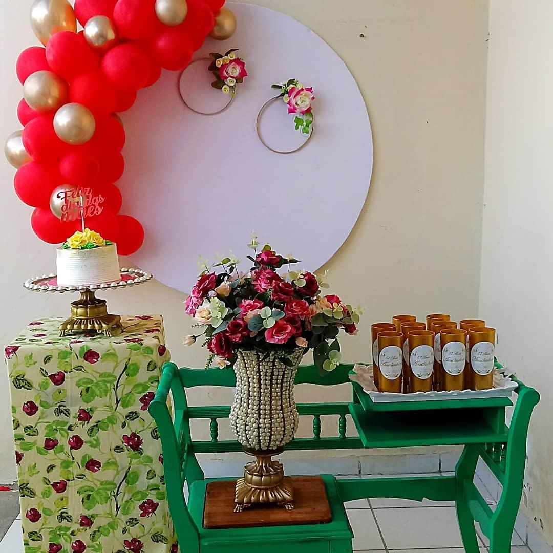decoração dia das mães simples balões