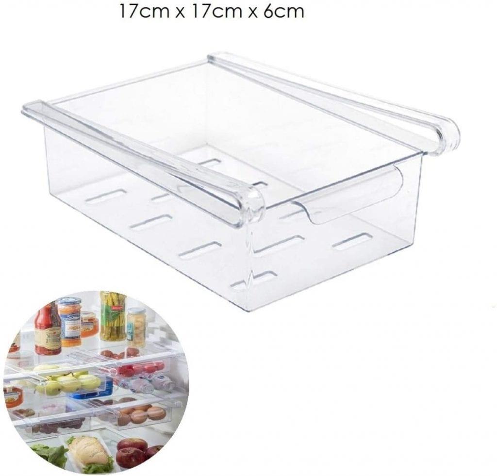 organizador acrilico geladeira gaveta