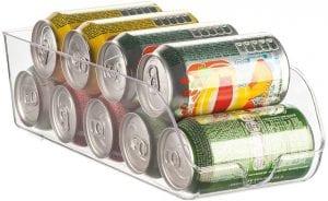 organizador latas na geladeira acrilico