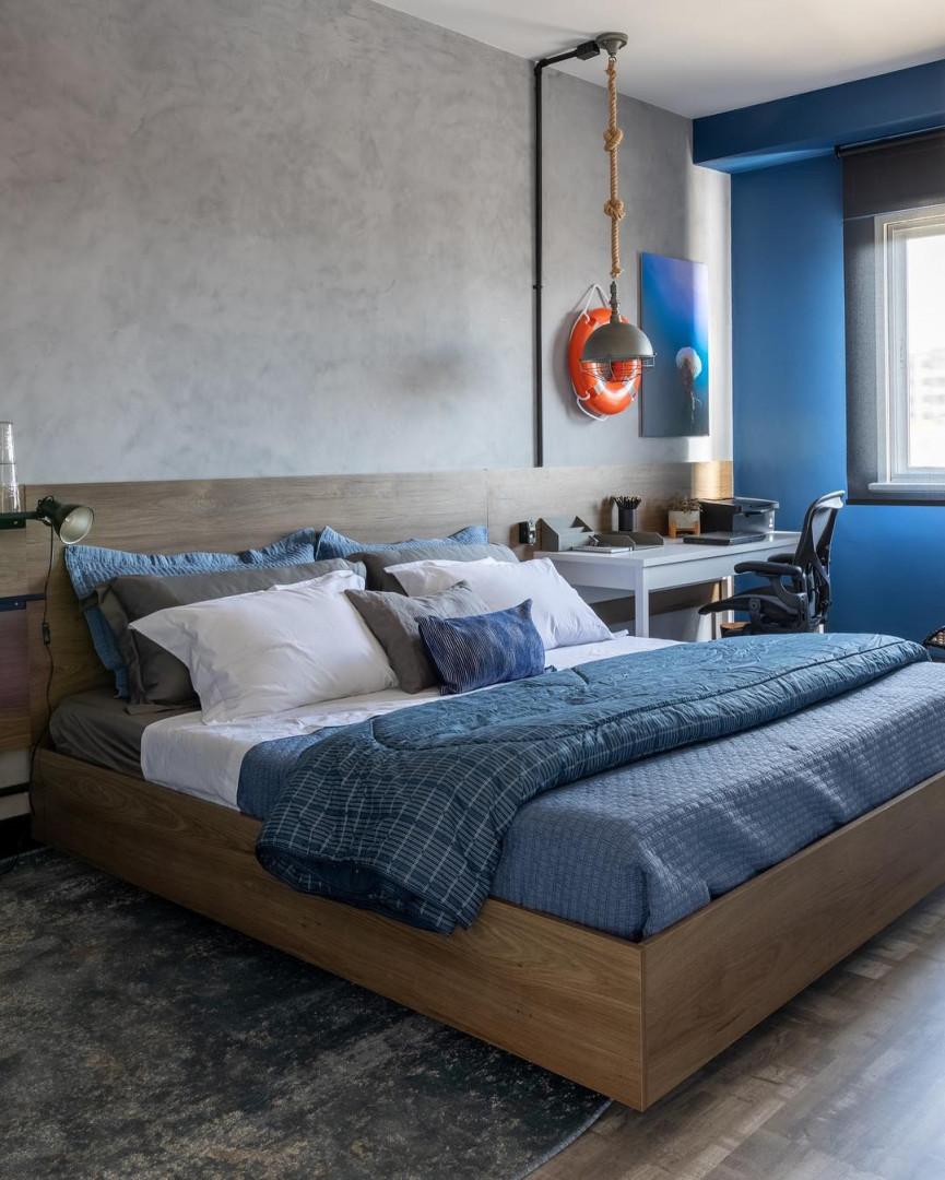 decoração azul para quarto