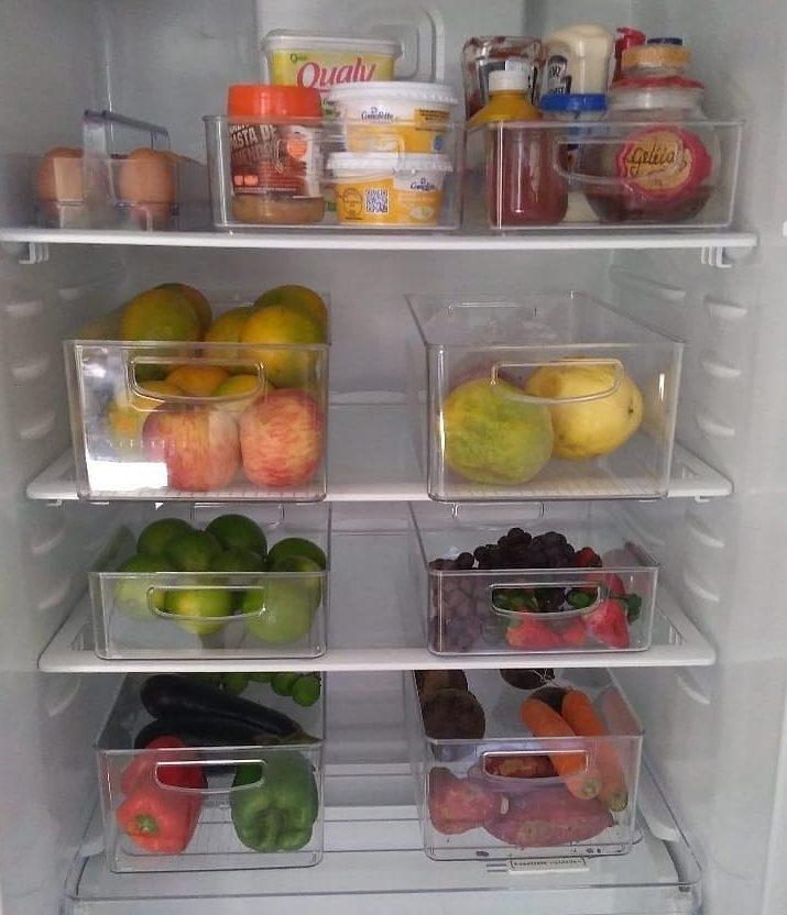 organizar geladeira com organizadores