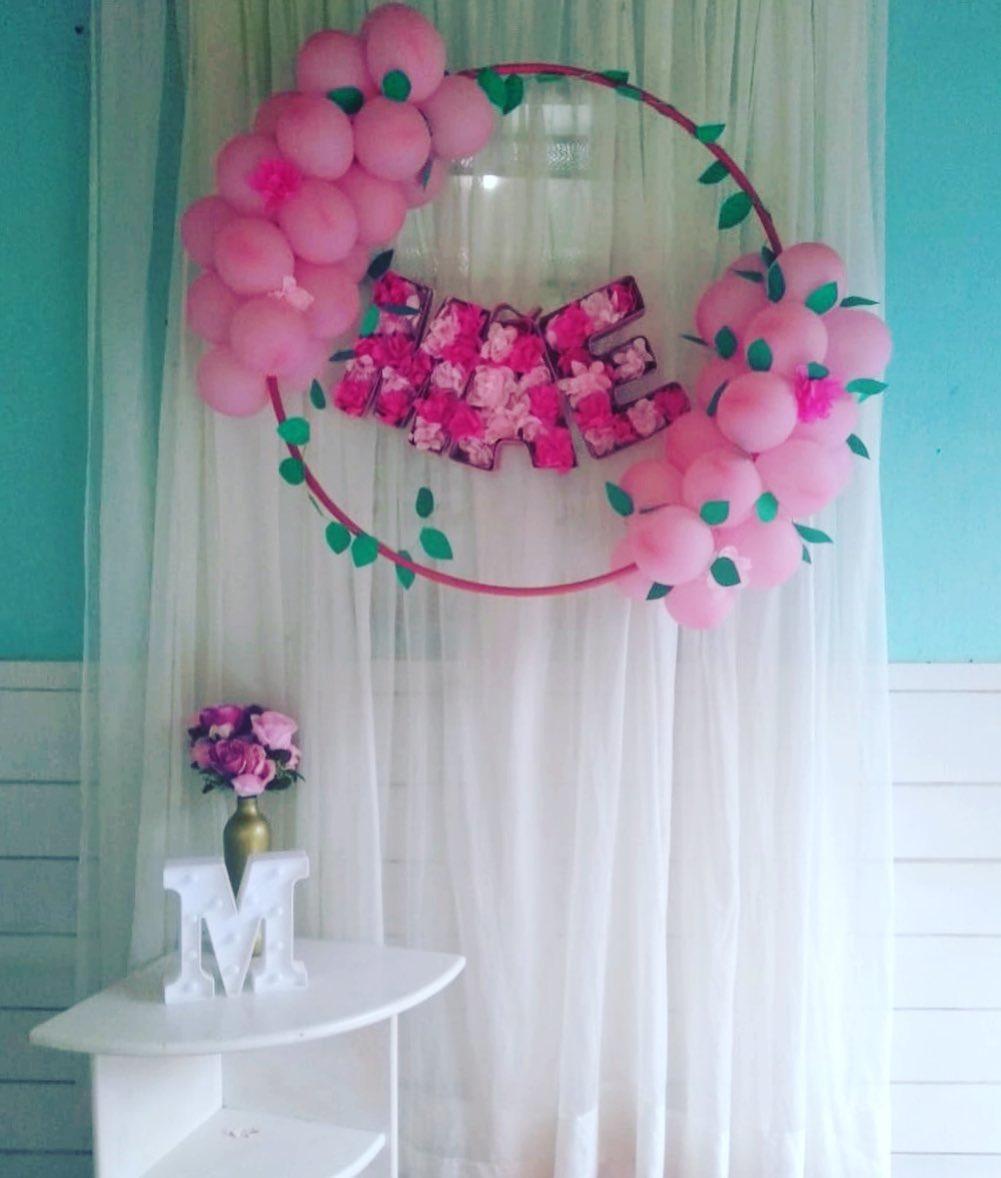 decoração dia das mães simples com balões