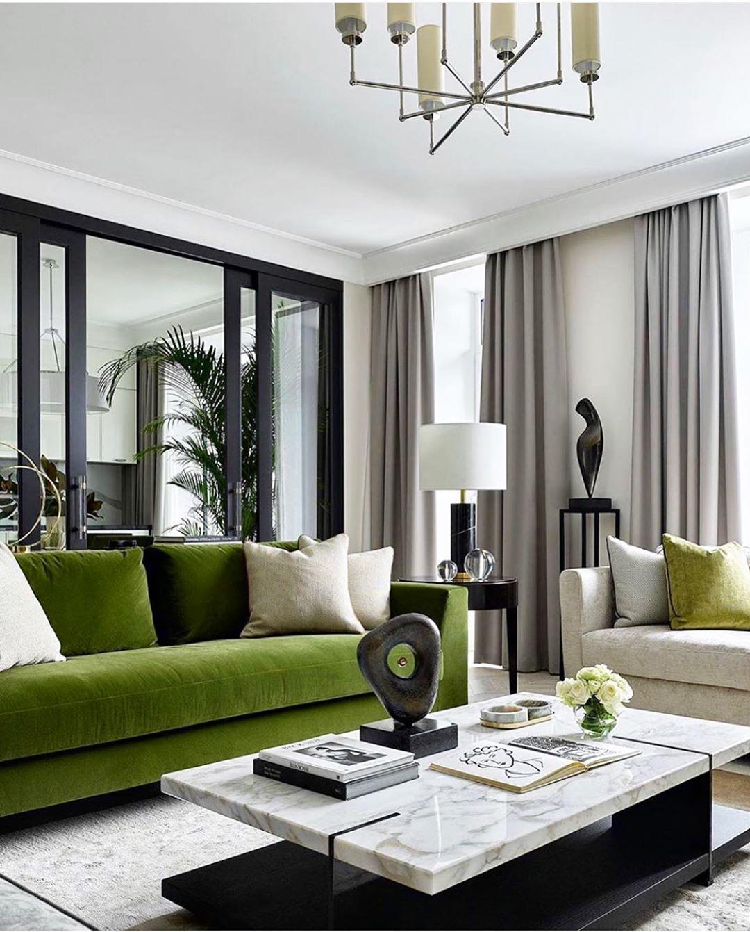 sofa verde na decoracao