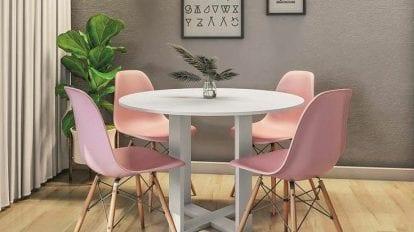 mesa de jantar pequena redonda