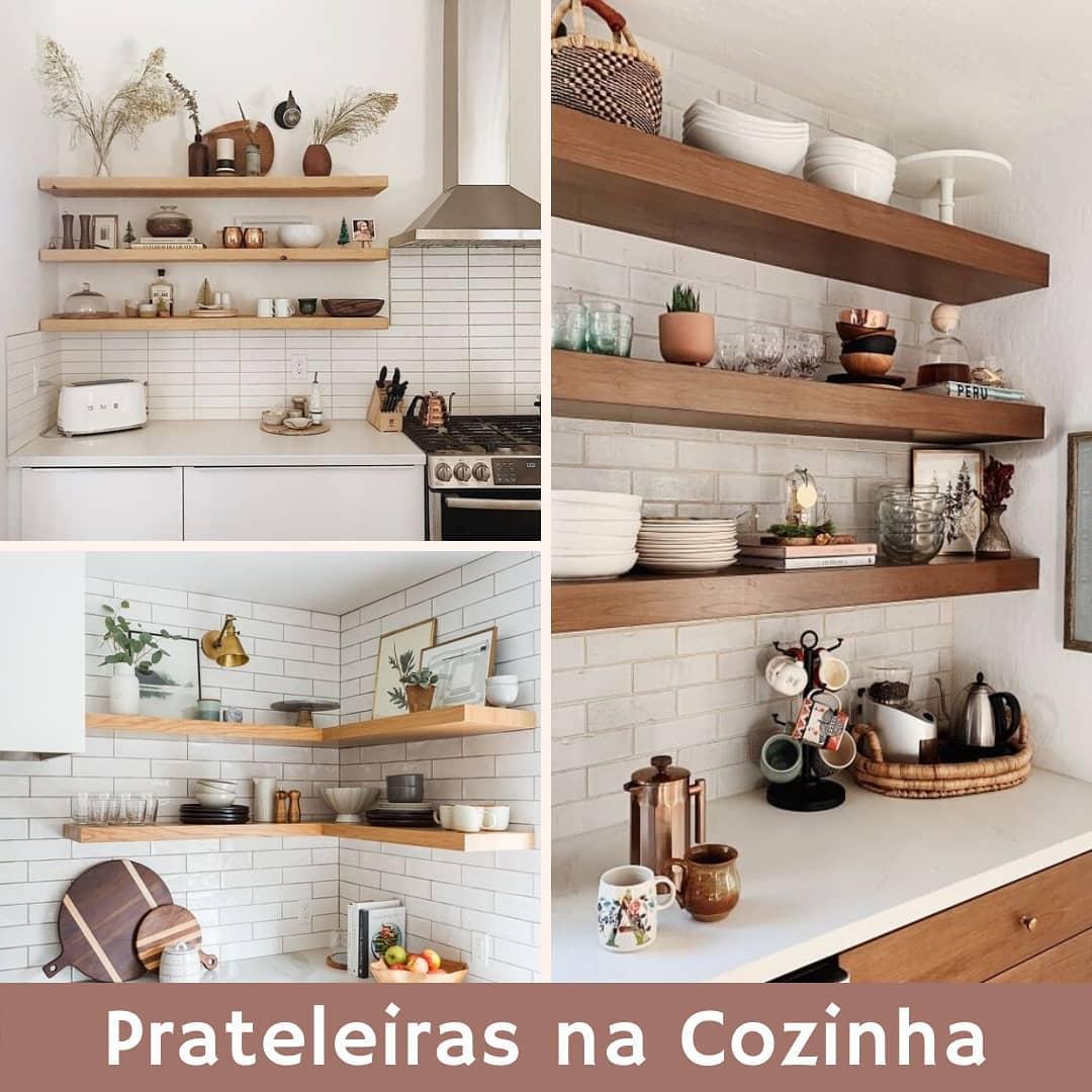 como organizar cozinha pequena com prateleiras
