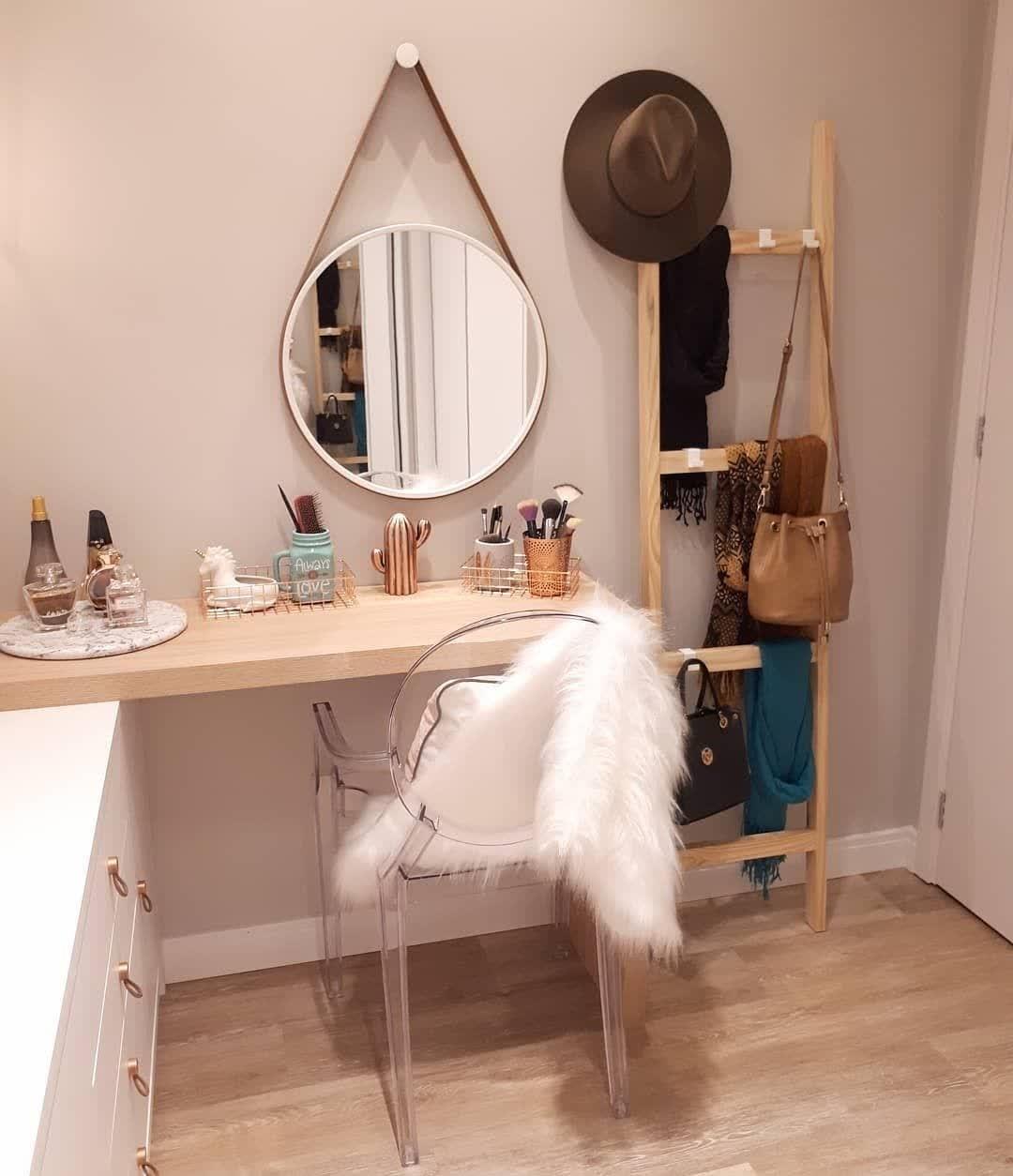 espelho redondo adnet na penteadeira