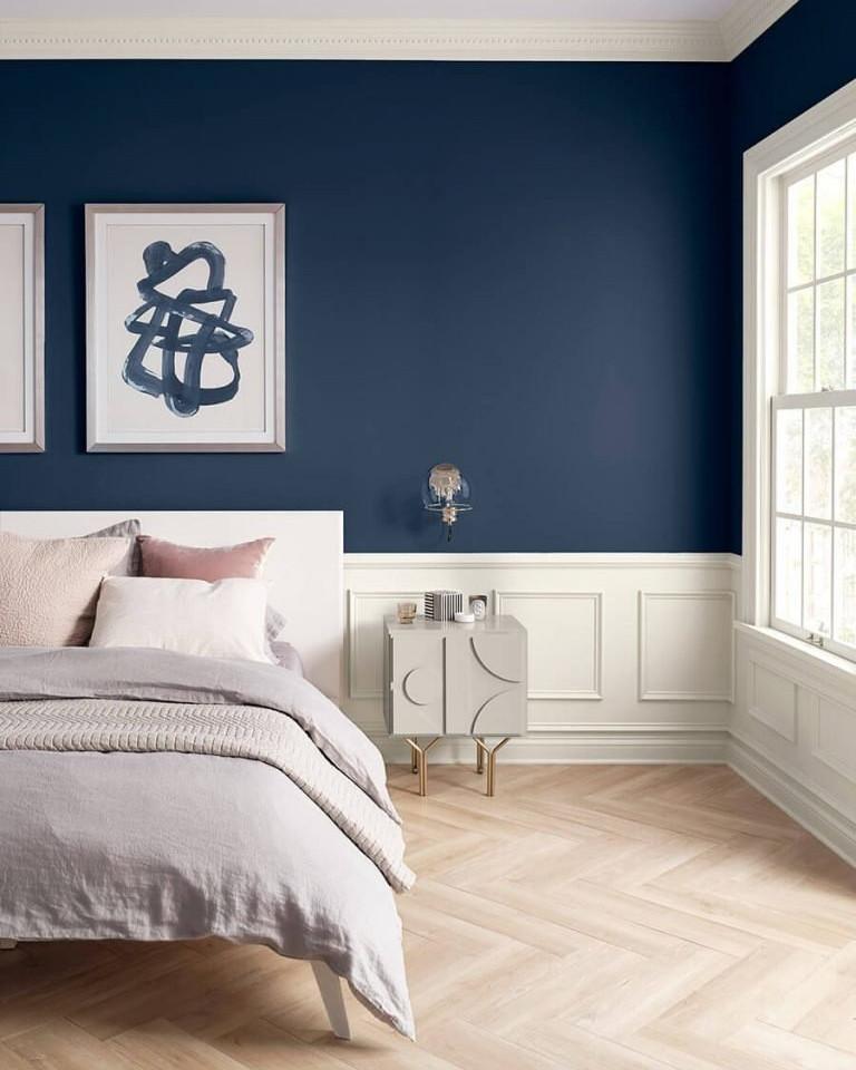 parede azul no quarto