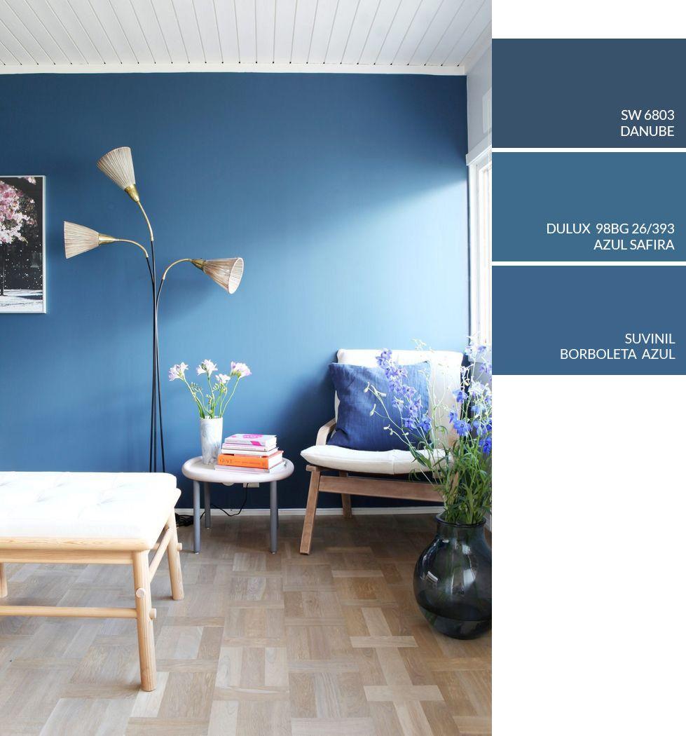 tinta de parede azul cores
